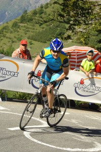 Climbing Alpe D'Huez on Race Day